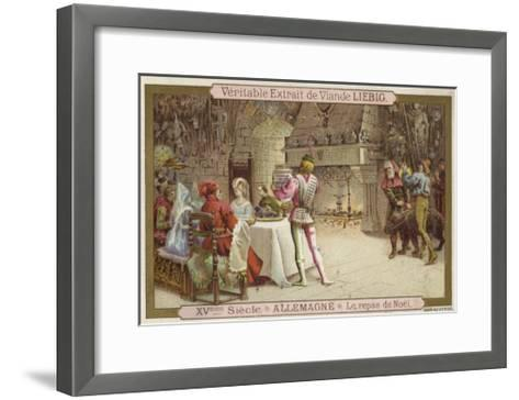 Christmas Feast, Germany, 15th Century--Framed Art Print