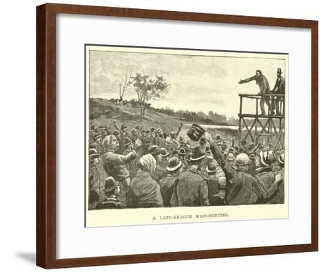 A Land-League Mass-Meeting--Framed Art Print