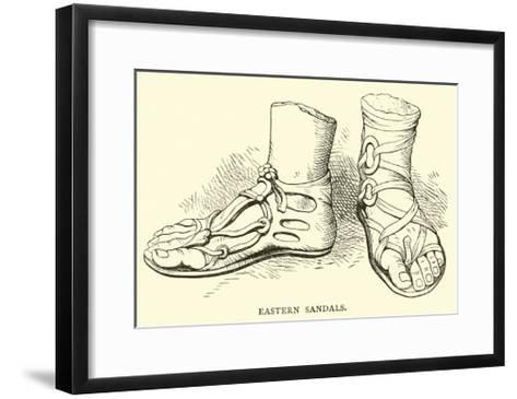 Eastern Sandals--Framed Art Print