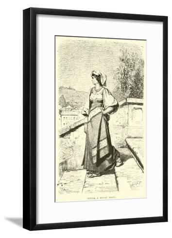 Stella, a Roman Model--Framed Art Print