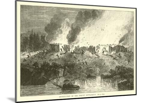 Destruction of the Pequot Settlement--Mounted Giclee Print