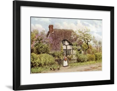Lilac and Apple Blossoms, Harvington, Worcester-Alfred Robert Quinton-Framed Art Print