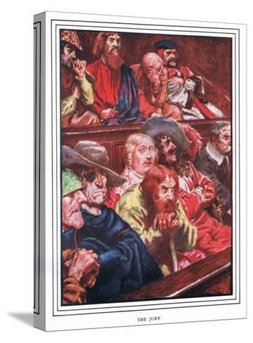 The Jury-John Byam Liston Shaw-Stretched Canvas Print