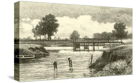 Clifton Weir--Stretched Canvas Print