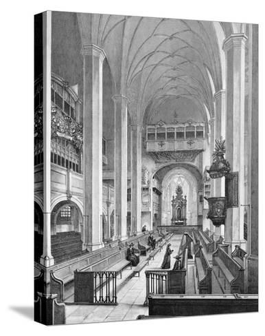 Germany, Interior of Thomaskirche--Stretched Canvas Print