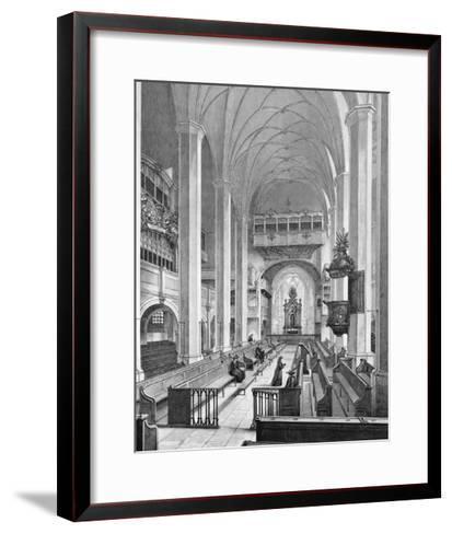 Germany, Interior of Thomaskirche--Framed Art Print