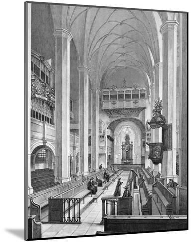 Germany, Interior of Thomaskirche--Mounted Giclee Print