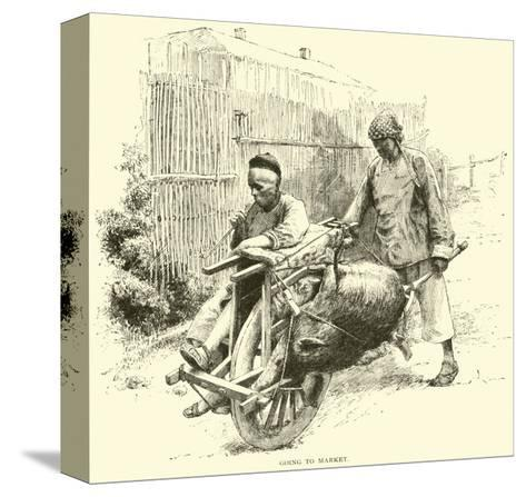 Going to Market--Stretched Canvas Print