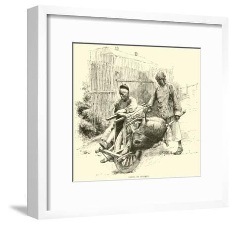Going to Market--Framed Art Print