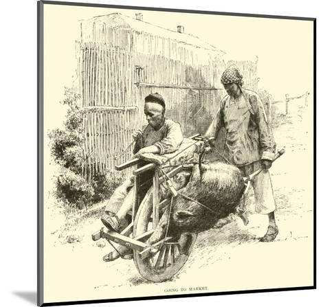 Going to Market--Mounted Giclee Print