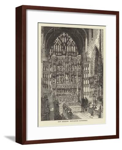 New Reredos, Newcastle Cathedral--Framed Art Print