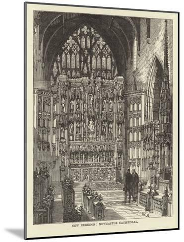 New Reredos, Newcastle Cathedral--Mounted Giclee Print