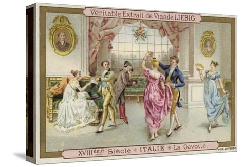 Dancing the Gavotte, Italy, 18th Century--Stretched Canvas Print