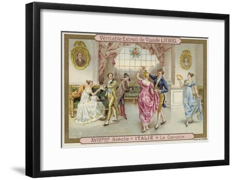 Dancing the Gavotte, Italy, 18th Century--Framed Art Print