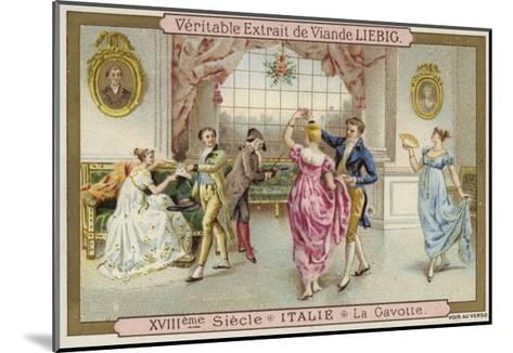 Dancing the Gavotte, Italy, 18th Century--Mounted Giclee Print