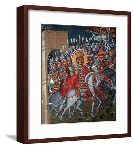Triumphal Entry of Constantine to Rome, 1494-Philippos Goul-Framed Art Print