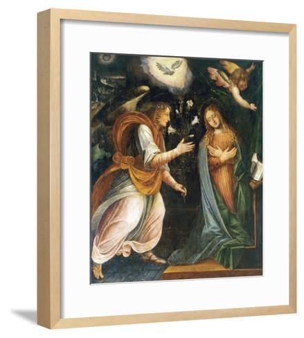 Annunciation, 1613-Melchiorre D'Enrico-Framed Art Print