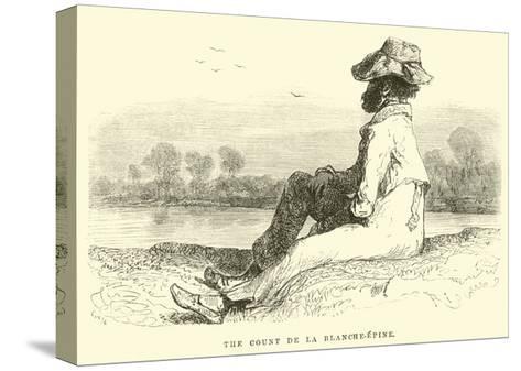 The Count De La Blanche-Epine-?douard Riou-Stretched Canvas Print