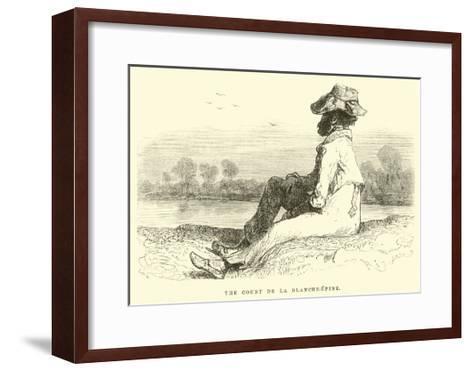 The Count De La Blanche-Epine-?douard Riou-Framed Art Print