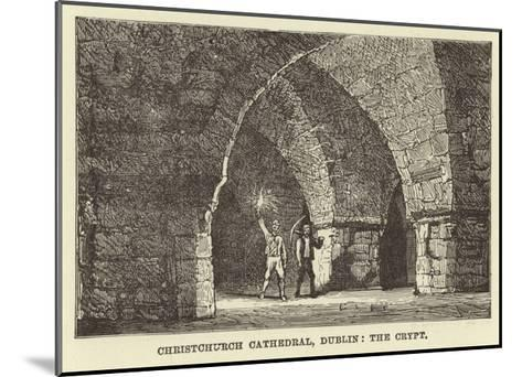 Christchurch Cathedral, Dublin, the Crypt--Mounted Giclee Print