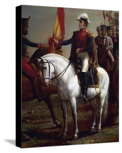Portrait of Simon Bolivar--Stretched Canvas Print