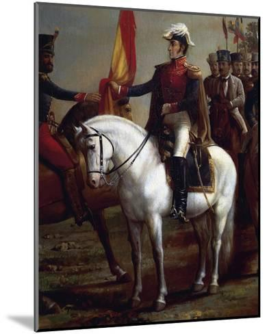 Portrait of Simon Bolivar--Mounted Giclee Print