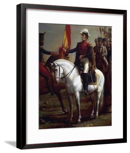 Portrait of Simon Bolivar--Framed Art Print