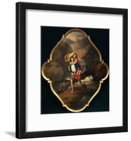 Paolo and Virginia, 1850-1874-Angelo Inganni-Framed Art Print