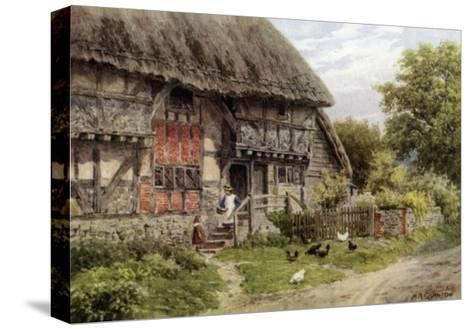 Old Cottage, Bignor, Sussex-Alfred Robert Quinton-Stretched Canvas Print