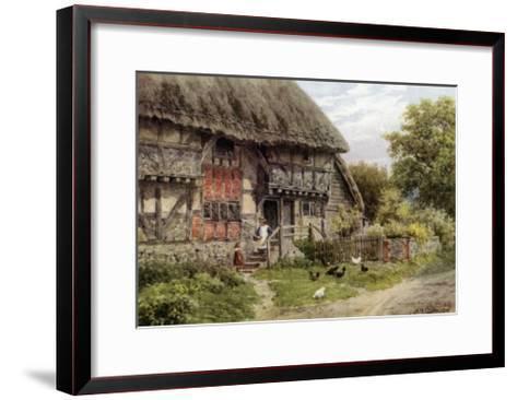Old Cottage, Bignor, Sussex-Alfred Robert Quinton-Framed Art Print