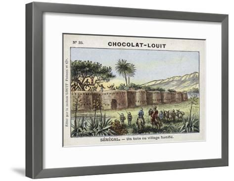 A Tata, or Fortified Village, Senegal--Framed Art Print