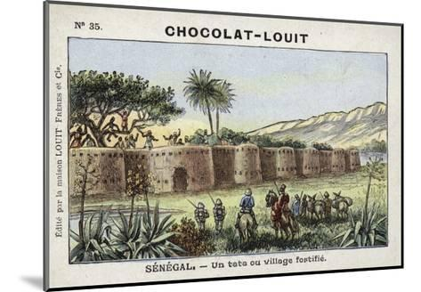 A Tata, or Fortified Village, Senegal--Mounted Giclee Print