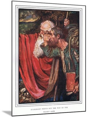 Evangelist Points Out the Way to the Wicket-Gate-John Byam Liston Shaw-Mounted Giclee Print