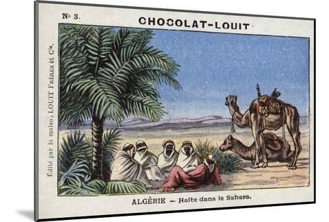 A Halt in the Sahara, Algeria--Mounted Giclee Print