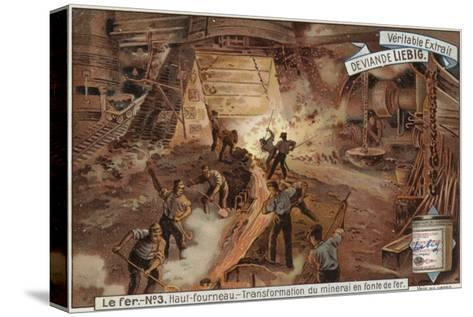 Liebig Card Featuring the Iron Industry--Stretched Canvas Print
