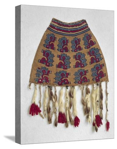Wool Bag with Zoomorphic Motifs from Nazca--Stretched Canvas Print