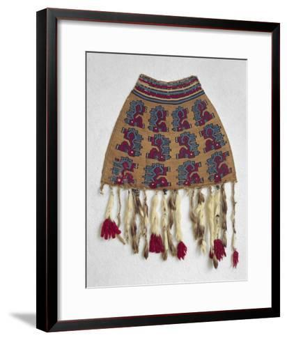 Wool Bag with Zoomorphic Motifs from Nazca--Framed Art Print