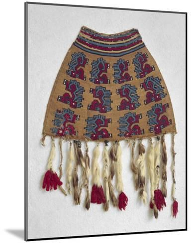 Wool Bag with Zoomorphic Motifs from Nazca--Mounted Giclee Print