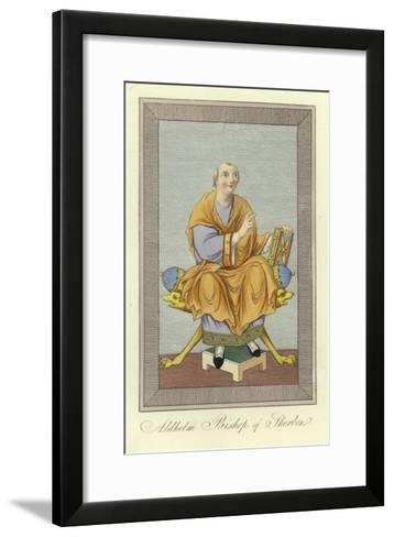 Aldhelm, Bishop of Sherborne--Framed Art Print
