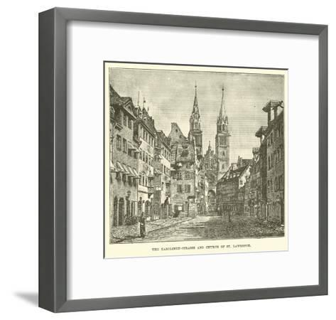 The Karolinen-Strasse and Church of St Lawrence--Framed Art Print