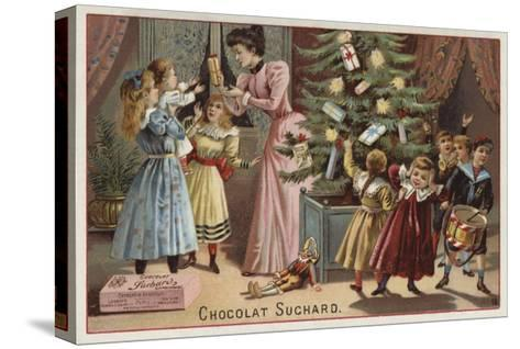 Suchard Chocolates at Christmas--Stretched Canvas Print