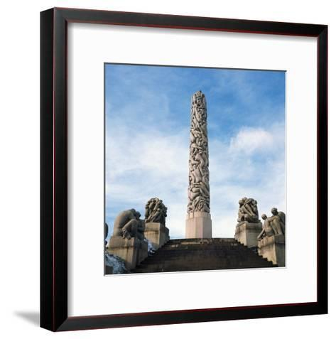 Human Pyramid--Framed Art Print
