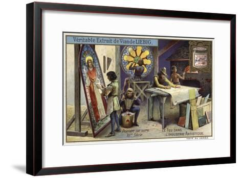 Stained Glass Manufacturing, 12th Century--Framed Art Print