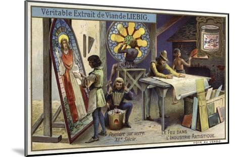 Stained Glass Manufacturing, 12th Century--Mounted Giclee Print