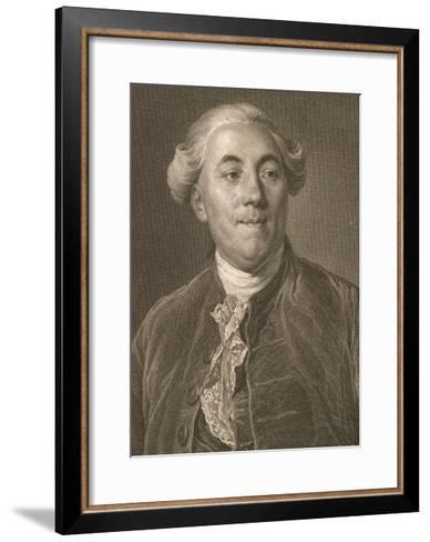 Portrait of Jacques Necker--Framed Art Print