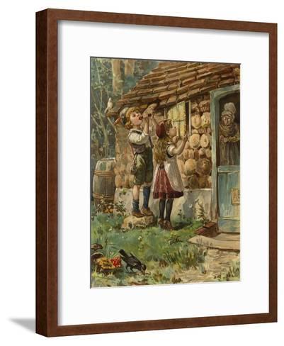 Hansel and Gretel--Framed Art Print