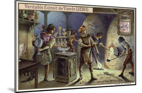 Venetian Glass Blowers, 14th Century--Mounted Giclee Print