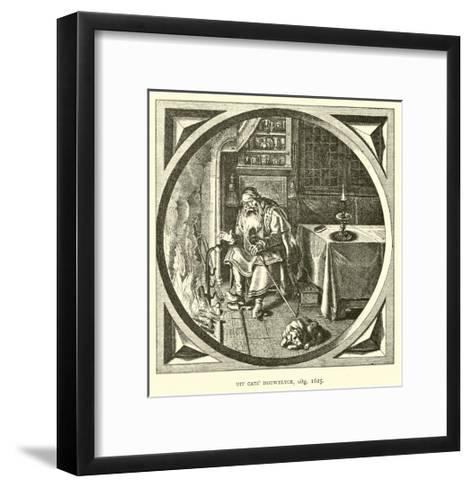 Scene from Houwelick, by Jacob Cats, 1625--Framed Art Print