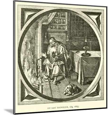 Scene from Houwelick, by Jacob Cats, 1625--Mounted Giclee Print