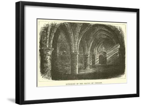 Dungeons in the Castle of Chillon--Framed Art Print